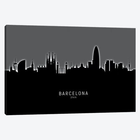 Barcelona Spain Skyline Canvas Print #MTO1804} by Michael Tompsett Canvas Print