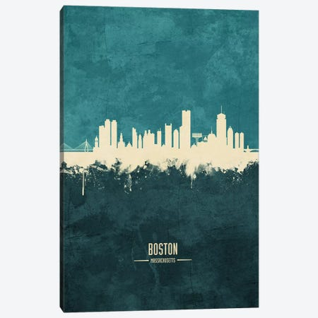 Boston Massachusetts Skyline Canvas Print #MTO1805} by Michael Tompsett Canvas Print