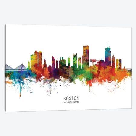 Boston Massachusetts Skyline Canvas Print #MTO1806} by Michael Tompsett Canvas Print
