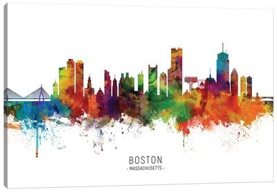 Boston Massachusetts Skyline Canvas Art Print