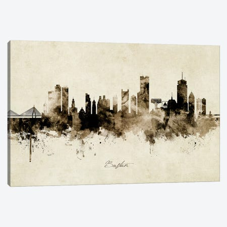 Boston Massachusetts Skyline Canvas Print #MTO1807} by Michael Tompsett Canvas Print
