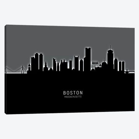 Boston Massachusetts Skyline Canvas Print #MTO1808} by Michael Tompsett Canvas Wall Art