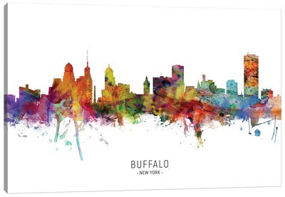 Buffalo New York Skyline Canvas Art Print