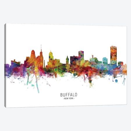 Buffalo New York Skyline Canvas Print #MTO1809} by Michael Tompsett Canvas Artwork