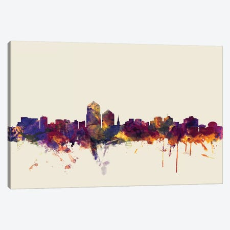 Albuquerque, New Mexico, USA On Beige Canvas Print #MTO180} by Michael Tompsett Canvas Artwork