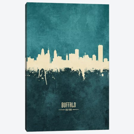 Buffalo New York Skyline Canvas Print #MTO1810} by Michael Tompsett Canvas Art Print