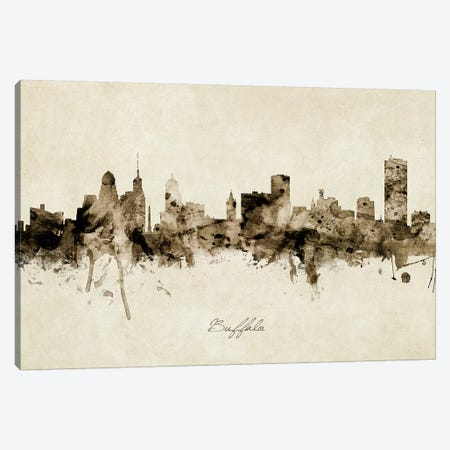 Buffalo New York Skyline Canvas Print #MTO1811} by Michael Tompsett Art Print