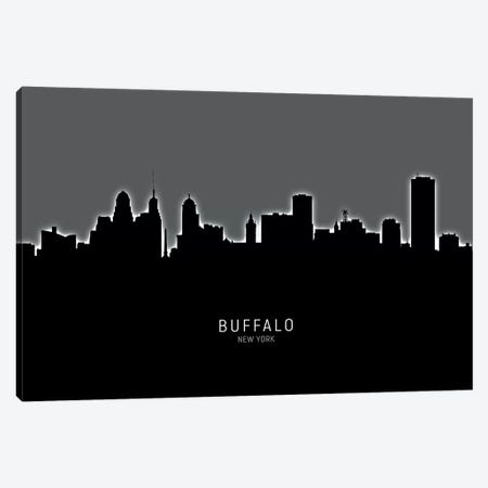 Buffalo New York Skyline Canvas Print #MTO1812} by Michael Tompsett Canvas Print