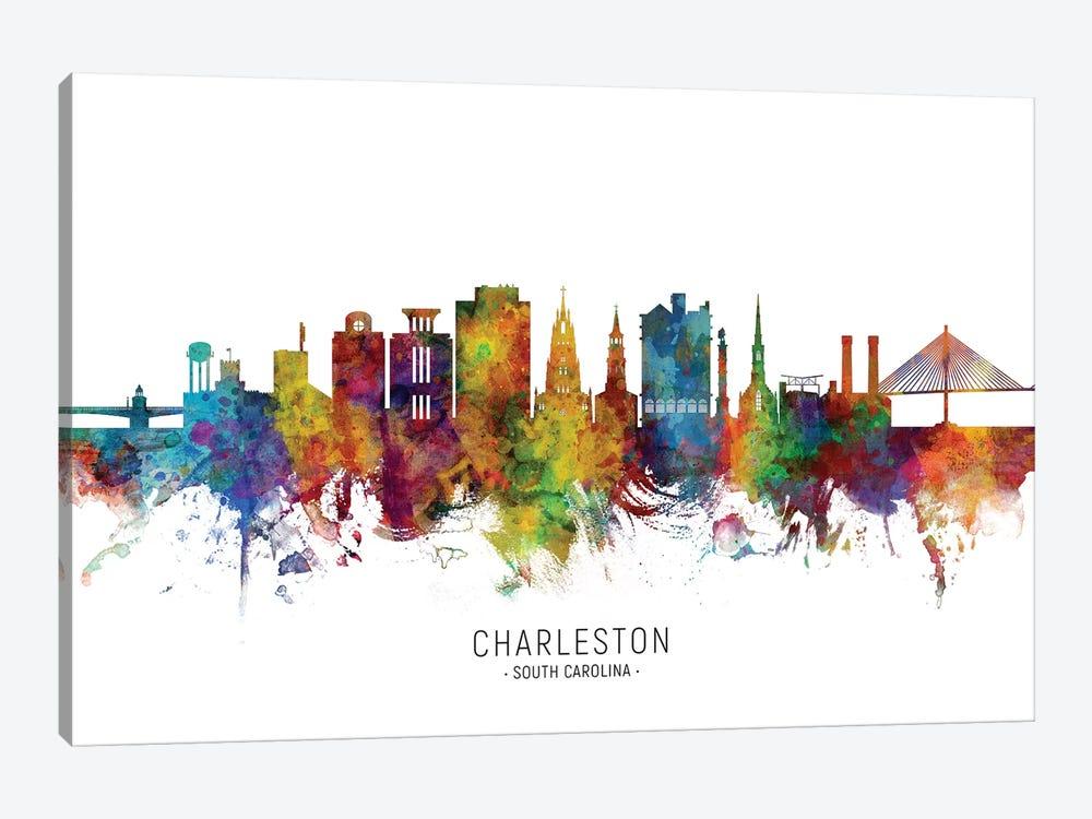 Charleston South Carolina Skyline by Michael Tompsett 1-piece Canvas Wall Art