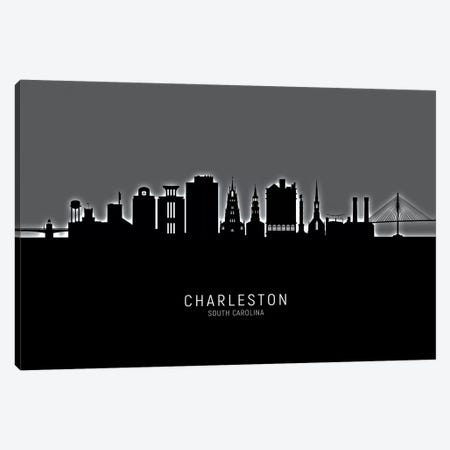 Charleston South Carolina Skyline Canvas Print #MTO1816} by Michael Tompsett Canvas Art