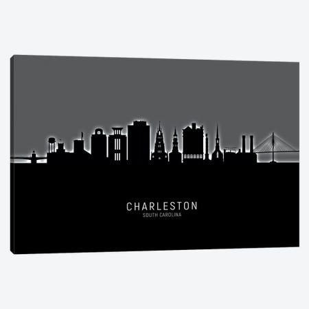 Charleston South Carolina Skyline Canvas Print #MTO1816} by Michael Tompsett Canvas Art