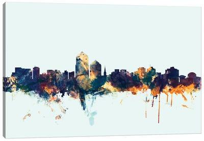 Skyline Series: Albuquerque, New Mexico, USA On Blue Canvas Print #MTO181