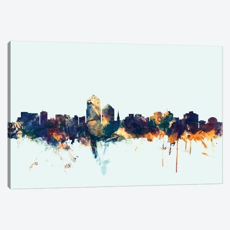 Albuquerque, New Mexico, USA On Blue Canvas Print #MTO181} by Michael Tompsett Canvas Wall Art