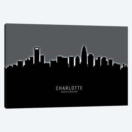 Charlotte North Carolina Skyline 3-Piece Canvas #MTO1820} by Michael Tompsett Canvas Artwork