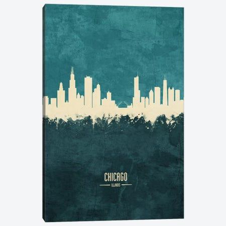 Chicago Illinois Skyline Canvas Print #MTO1821} by Michael Tompsett Canvas Art