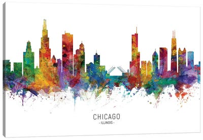 Chicago Illinois Skyline Canvas Art Print