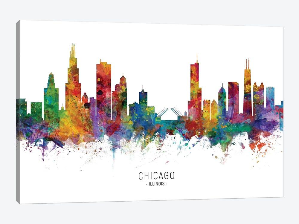Chicago Illinois Skyline by Michael Tompsett 1-piece Canvas Wall Art