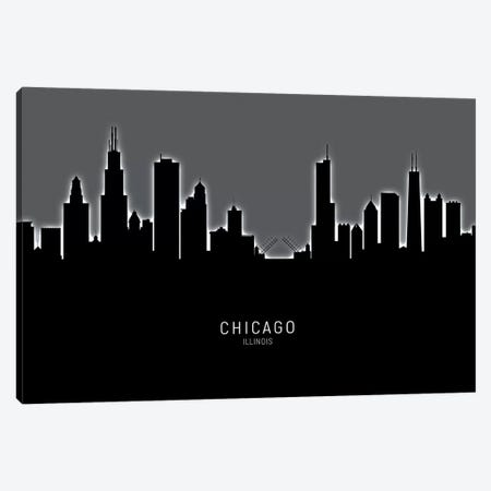 Chicago Illinois Skyline Canvas Print #MTO1824} by Michael Tompsett Canvas Print