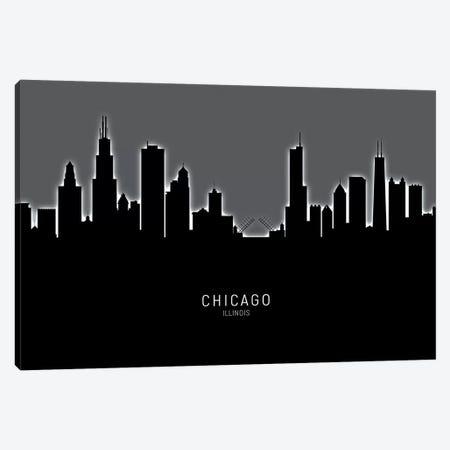 Chicago Illinois Skyline Canvas Print #MTO1824} by Michael Tompsett Canvas Print