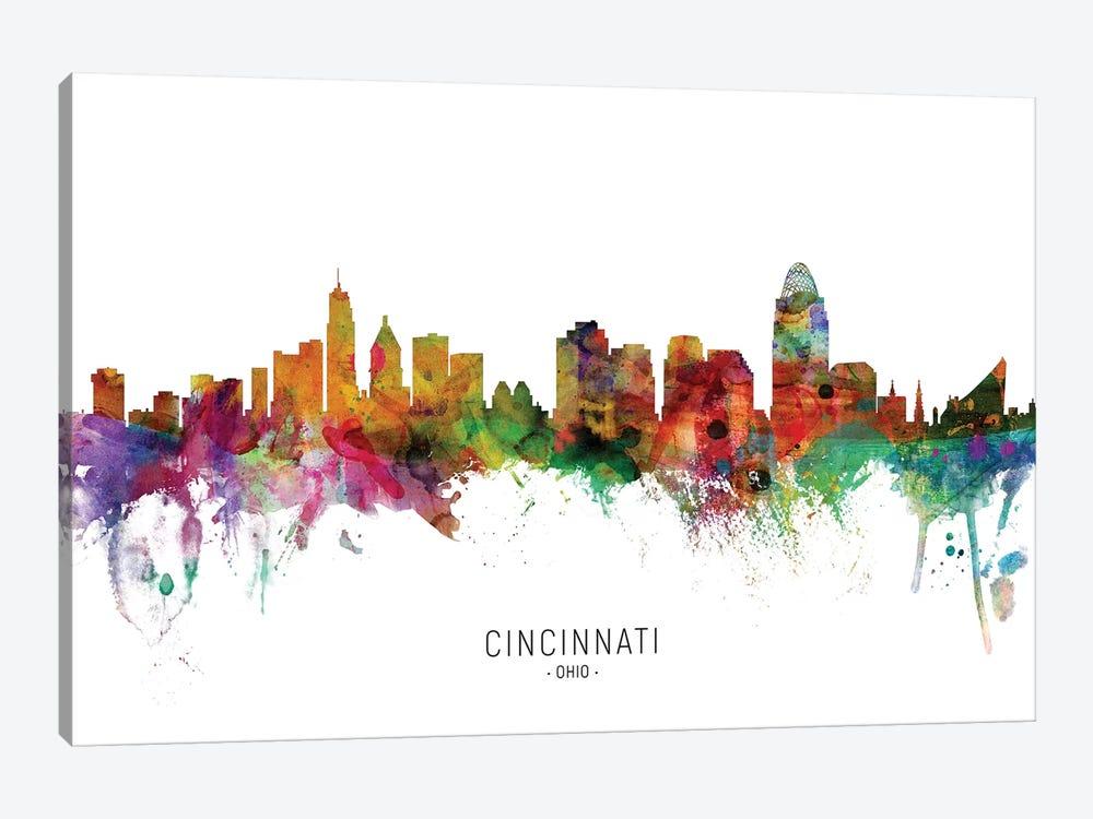 Cincinnati Ohio Skyline by Michael Tompsett 1-piece Canvas Art Print