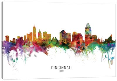 Cincinnati Ohio Skyline Canvas Art Print