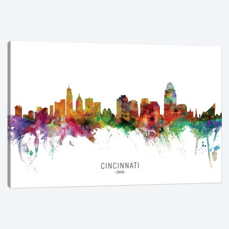 Cincinnati Ohio Skyline Canvas Print #MTO1825} by Michael Tompsett Canvas Print