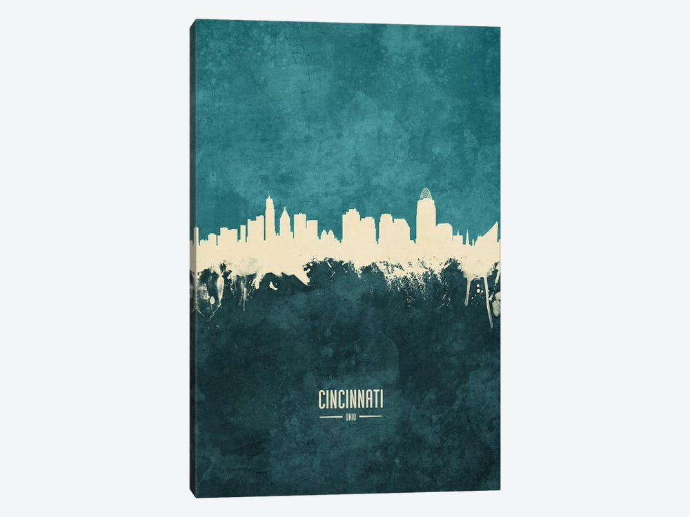 Cincinnati Ohio Skyline 1-piece Canvas Art