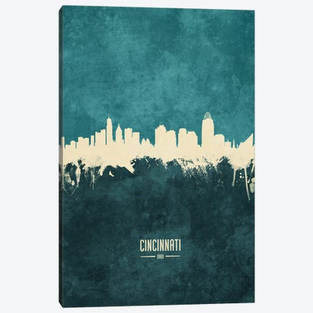 Cincinnati Ohio Skyline Canvas Print #MTO1826} by Michael Tompsett Canvas Art Print