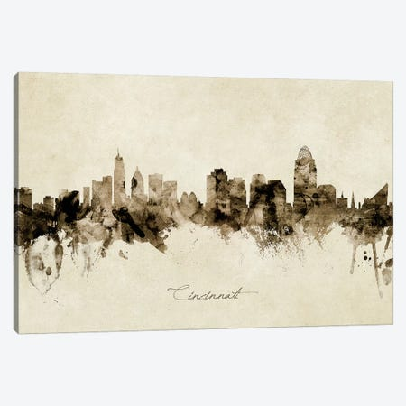 Cincinnati Ohio Skyline Canvas Print #MTO1827} by Michael Tompsett Canvas Print