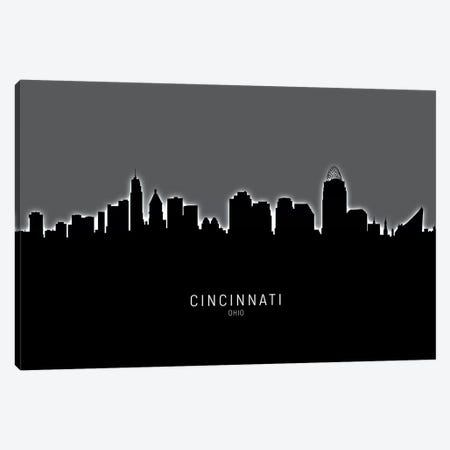 Cincinnati Ohio Skyline Canvas Print #MTO1828} by Michael Tompsett Canvas Artwork