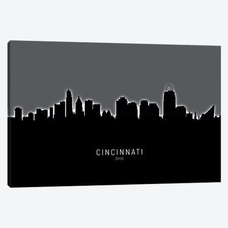Cincinnati Ohio Skyline Canvas Print #MTO1828} by Michael Tompsett Canvas Artwork