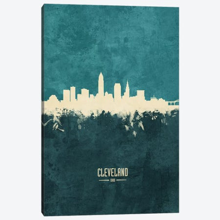 Cleveland Ohio Skyline Canvas Print #MTO1829} by Michael Tompsett Canvas Artwork