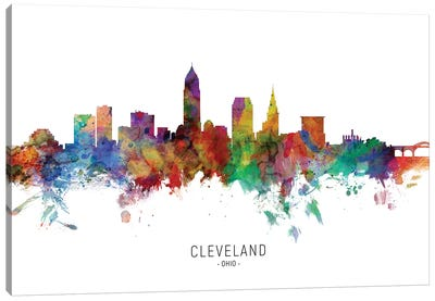 Cleveland Ohio Skyline Canvas Art Print