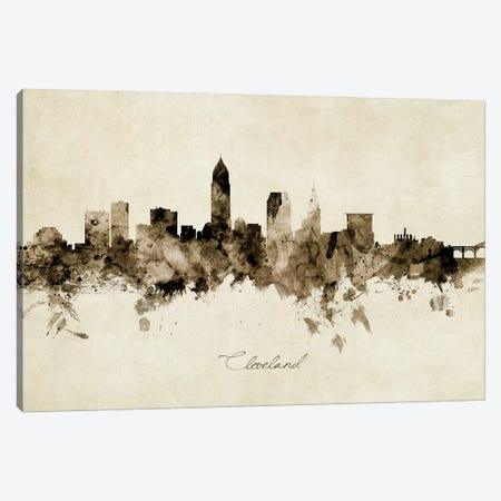 Cleveland Ohio Skyline Canvas Print #MTO1831} by Michael Tompsett Canvas Art Print