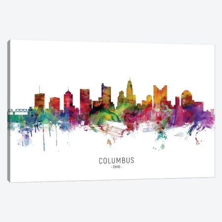 Columbus Ohio Skyline Canvas Print #MTO1833} by Michael Tompsett Canvas Art Print