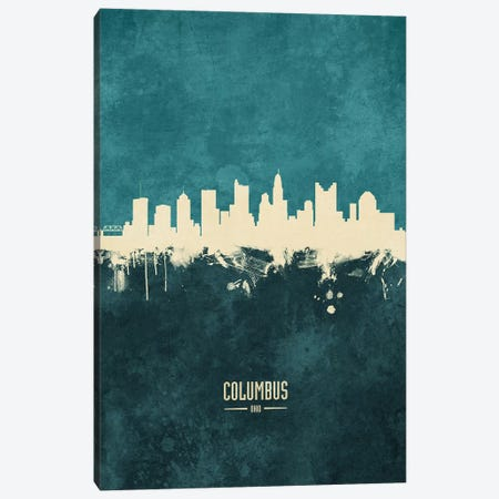 Columbus Ohio Skyline Canvas Print #MTO1834} by Michael Tompsett Canvas Wall Art