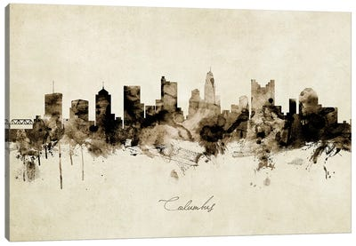 Columbus Ohio Skyline Canvas Art Print