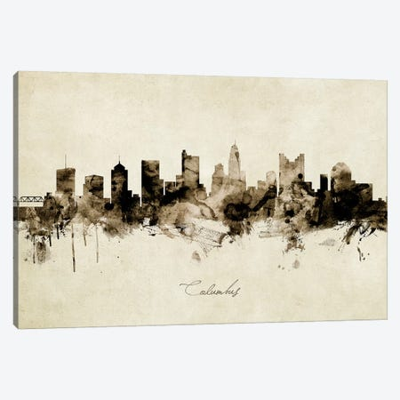 Columbus Ohio Skyline Canvas Print #MTO1835} by Michael Tompsett Canvas Artwork