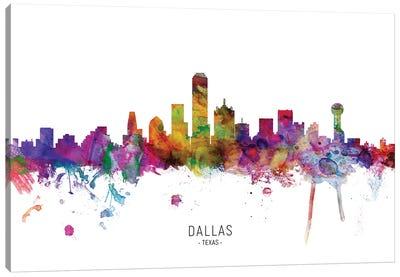Dallas Texas Skyline Canvas Art Print