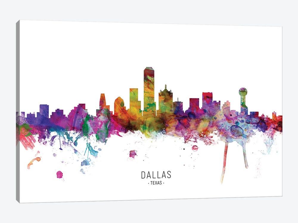 Dallas Texas Skyline by Michael Tompsett 1-piece Canvas Art