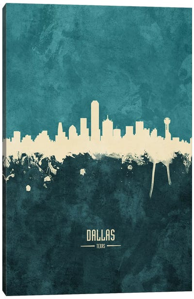 Dallas Texas Skyline Canvas Art Print