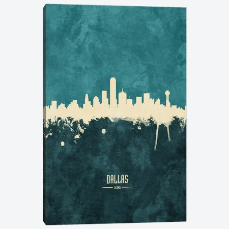 Dallas Texas Skyline Canvas Print #MTO1838} by Michael Tompsett Art Print