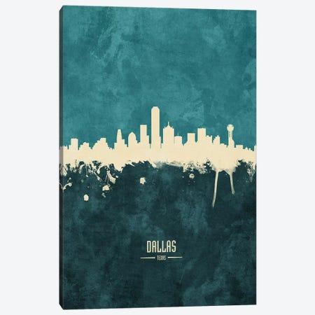 Dallas Texas Skyline Canvas Print #MTO1838} by Michael Tompsett Art Print