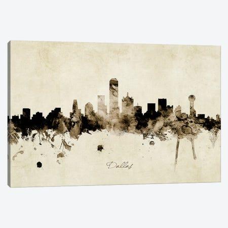 Dallas Texas Skyline Canvas Print #MTO1839} by Michael Tompsett Canvas Art Print