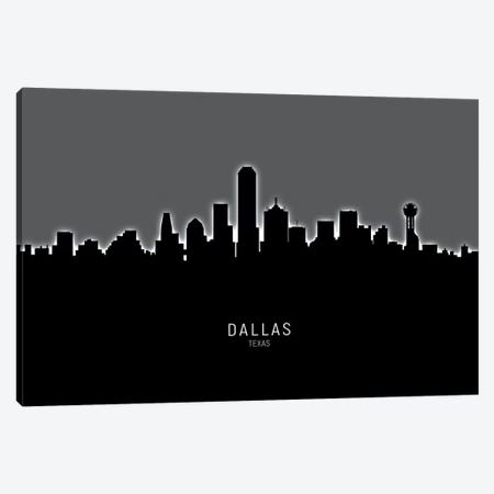 Dallas Texas Skyline Canvas Print #MTO1840} by Michael Tompsett Canvas Wall Art