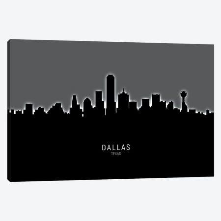 Dallas Texas Skyline Canvas Print #MTO1840} by Michael Tompsett Canvas Wall Art