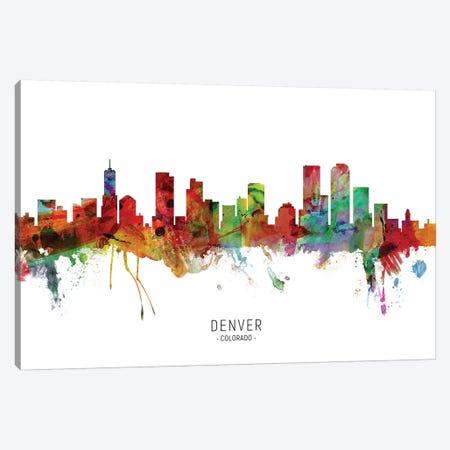 Denver Colorado Skyline Canvas Print #MTO1841} by Michael Tompsett Canvas Artwork