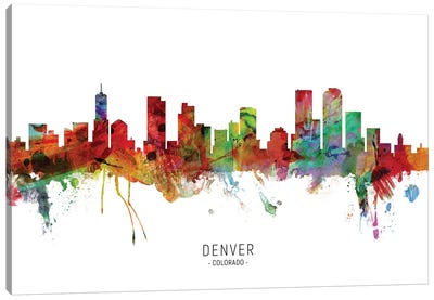 Denver Colorado Skyline Canvas Art Print