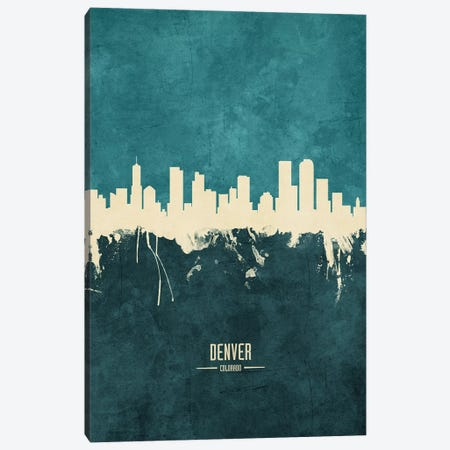 Denver Colorado Skyline Canvas Print #MTO1842} by Michael Tompsett Canvas Art