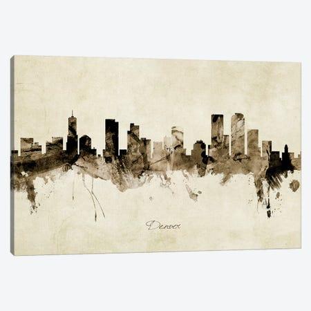 Denver Colorado Skyline Canvas Print #MTO1843} by Michael Tompsett Canvas Artwork